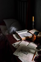 Branwell's Room (vesna1962) Tags: room studio bedroom writer artists desk bed books papers drawing manuscript interior stilllife branwellbrontë thebrontës museum parsonage brontëparsonage haworth westyorkshire england