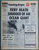 Queen Elizabeth Fiery Death of an Ocean Giant (davids pix) Tags: rms queen elizabeth cunard liner ocean fire sinking hong kong harbour harbor brighton evening argus 1972 10011972