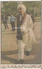 Man in the Ajrak (Ravez J) Tags: muttahidaqaumimovement mqm sindhassembly 2002 devdas ajrak sindhi