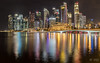 Marina by night (mathieuo1) Tags: marina singapore bay water building town scape city cityscape cityshore reflection light color illumination sg mbs asia district bridge iconic urban urbanart architecture play business busy travel explore longexposure panorama wide angle nikon work mathieuo
