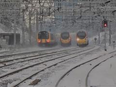 The power of the electrics (The Walsall Spotter) Tags: westmidlandsrailway virgintrains pendolino class390emu class350desiro 350368 rugeleytrentvalleystation tiltingtrain