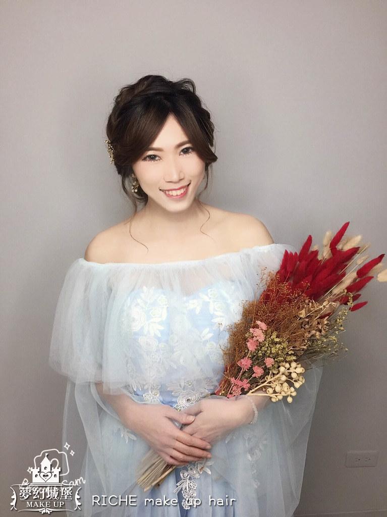 【新秘RICHE】新娘造型創作 / 甜美低盤髮
