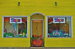 Toy store in Liverpool, Nova Scotia (bluenosersullivan) Tags: yellow store toys toystore atlanticcanada novascotia liverpool christmas davesullivan bluenosersullivan can