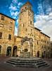 San Gimignano - Piazza della Cisterna (einaz80) Tags: sangimignano gimignano san piazzadellacisterna piazza cisterna cistern square torre tower torredeldiavolo diavolo devil tuscany toscana architecture medieval italia italy