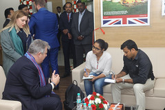 New visa application centre opens in Bengaluru (UK in India) Tags: ukministerofstateforimmigration brandonlewis visaapplicationcentre bengaluru wednesday 7november2017 vac