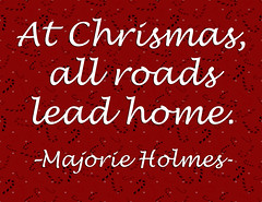 At Christmas All Roads 1 (Javcon117*) Tags: javcon117 illustration quote saying text words typography frostphotos christmas xmas roads lead home majorie holmes red white black candy canes polka dots background whimsical festive holiday