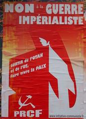 Non à la guerre impérialiste (emmanuelsaussieraffiches) Tags: affiche politique political poster pôlederenaissancecommunisteenfrance
