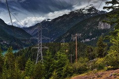 Man Made Power and a Low Key Mountain Setting (Ross Lake National Recreation Area)