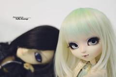 Attempt to selfie (·Yuffie Kisaragi·) Tags: doll pullip classical alice sepia sne taeyang sebastian melkor obitsu rewigged rechipped