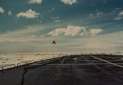 return flight,  Arctic Adventures, 1980... (Alvin Harp) Tags: polarstar icebreaker uscg coastguard arctic helicopter flightdeck icecap 1980 film vintage inflight military searchandrescue exploration alvinharp