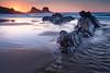 Praia da Zambujeira do Mar (Aljaž Vidmar   ADesign Studio) Tags: longexposure reflections gnd landscape sunset d800 nature nisifilters atlanticocean sunstar seascape sand polarizer rocks portugal