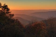 Thunder Ridge Sunset (Jo McD) Tags: blueridgemountains blueridgeparkway blue sunset autumn nationalpark usa virginia
