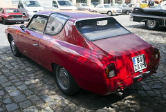 1963 Lancia Flavia Sport 1.8 (vetaturfumare - thanks for 2 MILLION views!!!) Tags: lancia flavia 18 1800 sport zagato alloy aluminium aluminum millemiglia red coupe coupé classicremise berlin cobblestones forsale cadillac