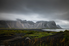 Stokksnes & Vestrahorn in the Clouds - Iceland (Toine B.) Tags: mountains montagne sommets plage beach sable noir black sand iceland islande nikon d750 tamronsp2470mmf28divcusd tamron2470 nd1000