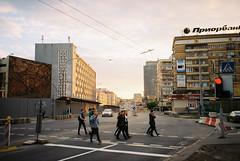 000046 (newmandrew_online) Tags: пленка filmisnotdead film filmphotografy 35mm konica bm300 street minsk belarus color lomography lomo city sunset