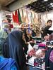 Local ladies at the make-up stall - Grand Bazaar Tehran Iran (WanderingPhotosPJB) Tags: iran tehran grandbazaar market ladies chador makeup lipstick islamicrepublic islam