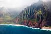 The final touches (hermez) Tags: cahi2017 napalicoast kauai hawaii erosion colorful landscape seascape pacific pacificocean mountains beach turquoise rain fog wet helicopter