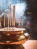 incense at the temple (xtj7) Tags: kl kualalumpur malaysia sea asia temple chinese incense burning smoke olympus olympusomd em1mark2 em1markii