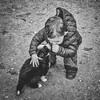 Je t'aime..... (Isa-belle33) Tags: animal nature dog puppy pet chiot enfant children kid boy bnw fujifilm blackwhite blancetnoir blackandwhite monochrome