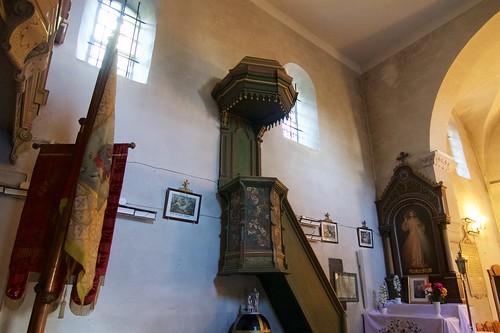 Ambona w kościele św. Mikołaja w Wysocicach