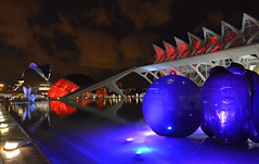 Valence - Espagne - la Cité des Arts et des Sciences (AlCapitol) Tags: valence espagne spain valencia nikon d800 lhemisferic muséedessciencespríncipefelipe elpalaudelesartsreinasofia citédesartsetdessciences reflet reflection illumination