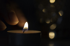 Burnt... (Hemzah Ahmed) Tags: macromondays fingertips macromonday fingertip candle tealight bokeh bokehlicious blur burn burnt