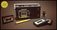 Old Cassette Recorder From Early 80's MK 232 (jarekwally) Tags: grundig unitra mk232 lego moc tape tapes cassette recorder 80s 80 music songs brickie zbudujmyto lugpolpl retro pewex