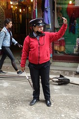 Traffic cop (posterboy2007) Tags: cop nepal nepali kathmandu street trafficcop female femalecop sonyrx100m3 sony