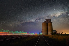 Dubbo (Bill Thoo) Tags: 18mm batis zeiss ilce7rm2 a7rii sony farming bush country rural abandonedsilo abandoned silo lighttrail dark night stars milkyway astrophotography scenic landscape australia newsouthwales nsw dubbo