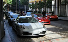 Beverly Wilshire Valet (SPV Automotive) Tags: ferrari f430 coupe exotic sports car supercars cars supercar silver dodge viper srt red porsche 918 spyder convertible lamborghini aventador lp7004 orange