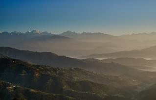Himalaya range view from Dulikhel