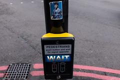 Fuck you I'm Millwall! (Gary Kinsman) Tags: 2017 fujix100t fujifilmx100t london se1 londonbridge boroughhighstreet boroughmarket sticker post wait fuckyouimmillwall millwall teddysheringham londonbridgeattack terrorism isis response roylarner