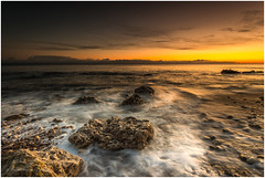 Chemical Reaction (Steven Peachey) Tags: seascape sunrise canon seaham northeastengland ef1740mmf4l canon5dmarkiv manfrotto lee09gnd