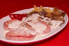 Restaurante La Muralla - Solomillo de cerdo en salsa con verbena de setas salteadas