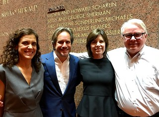 Jeanette and Paul Lehr with collectors Deborah and Dennis Scholl at the Adrienne Arsht Center Jazz Roots opening night