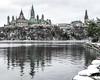 Sights from a First Snow Run : November 19, 2017 (jpeltzer) Tags: ottawa gatineau snow running parliament parliamenthill peacetower ottawariver