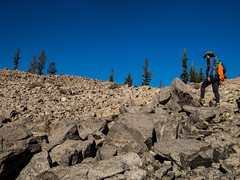 Frolicking on Chaos Crags (jenesizzle) Tags: lassenvolcanicnationalpark nationalpark lassen lavo volcano lake forest hiking outdoors landscape mountains trail chaoscrags chaoscragstrail cragslake