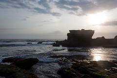 Rock, Tanah Lot (anastasia r) Tags: bali indonesia background cliff coastline earth green ground hinduism island landscape lowtide lowwater nature ocean oceanfloor relief rocky rough sea seaweed shore stones sun sunlight sunset tanahlot temple terrain texture textured water waves kediri id