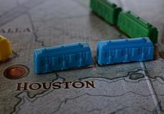 Ticket to Ride (Terri McClanahan) Tags: memberschoicegamesorgamepieces macromondays tickettoride boardgame blue green yellow