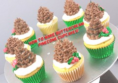 How to make Buttercream Pinecone Christmas Cupcakes! (The Pastryarch) Tags: pinecone pinecomb christmas holiday cupcake cupcakes cake buttercream how diy party ideas festive baking baker chef pastry dessert decorating piping
