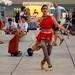 Street performer at Split, Croatia