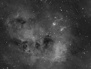TadPoles Nebula (IC410) close up in Hα