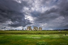 Heavy clouds over Stonehenge (hunblende) Tags: outdoor ruins ancient stonehenge