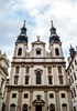 Jesuitenkirche - Wien (-MikeBakker-) Tags: church kirche jesuitenkirche baroque architecture building buildings tower towers clouds cloudy grey blue sky sunlight light shadow contrast travel traveling travelling traveler traveller explore exploring exploration urban urbanexploration city innerestadt district historic heritage perspective angle composition street streets streetphotography square view nikon nikond3100 d3100 1855mm lens dslr camera wien vienna österreich austria europa europe