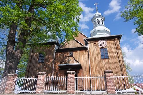 Kościół Niepokalanego Poczęcia NMP w Jasienicy Rosielnej od zachodu