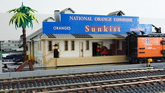 National Orange Company Riverside (Engineering with ABS) Tags: lego santafe railroad train riverside nationalorangecompany orange packinghouse sunkist california