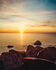 East Haven Sunrise (Ralph Cherubin) Tags: olympus ep5 panasonic 14mmf25 east haven ct connecticut beach ocean rocks sunrise water december 2017 fav25