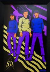 Star Trek at MoPop (bballchico) Tags: startrek mopopmuseumofpopculture seattle seattlecenter livelongandprosper neon blacklite mccoy kirk spock