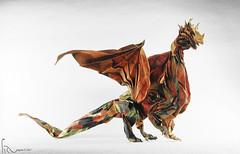 Larva Wyrm 1.7 (adam tran) Tags: origami dragon