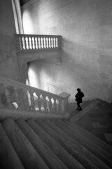 Downstairs - Granada - December 2015 (cava961) Tags: granada stairs monocromo monochrome analogue analogico bianconero bw